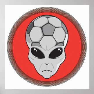 gráfico principal extranjero del fútbol póster