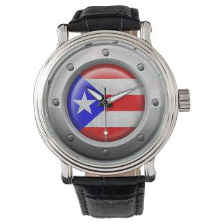 Gráfico puertorriqueño industrial del acero de la relojes de mano