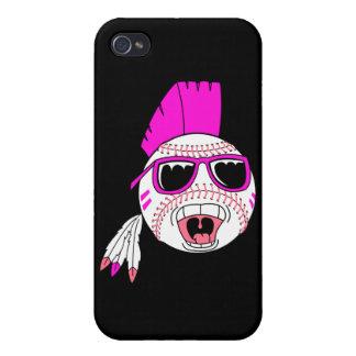gráfico punky del diseño del vector del chica rosa iPhone 4/4S carcasa