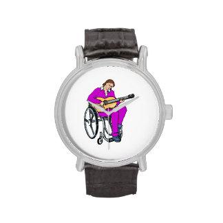 gráfico purple.png de la silla de ruedas del reloj de mano