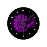 gráfico purple.png del personal de las notas del c relojes de pared