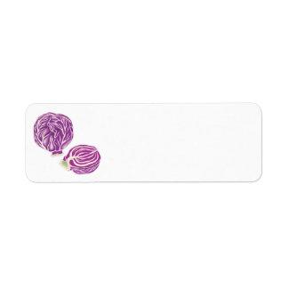 gráfico púrpura de la col etiqueta de remitente