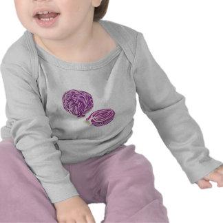 gráfico púrpura de la col camiseta