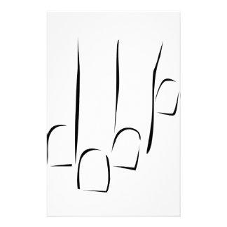 Gráfico que muestra cuidado o la manicura del papeleria