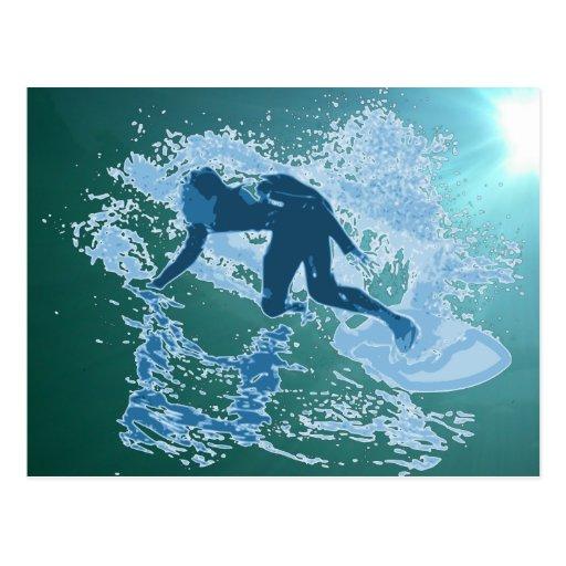 Gráfico que practica surf postal