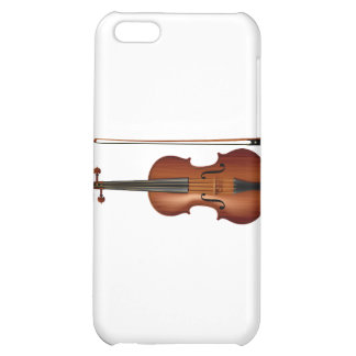 Gráfico realista del violín y del arco