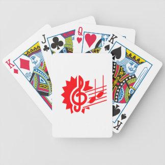 gráfico red.png del personal de las notas del clef baraja cartas de poker
