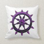 gráfico redondo purple.png de la rueda de las nave cojin