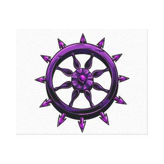 gráfico redondo purple.png de la rueda de las nave impresion de lienzo