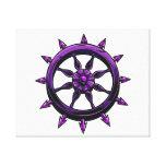 gráfico redondo purple.png de la rueda de las nave lienzo envuelto para galerías