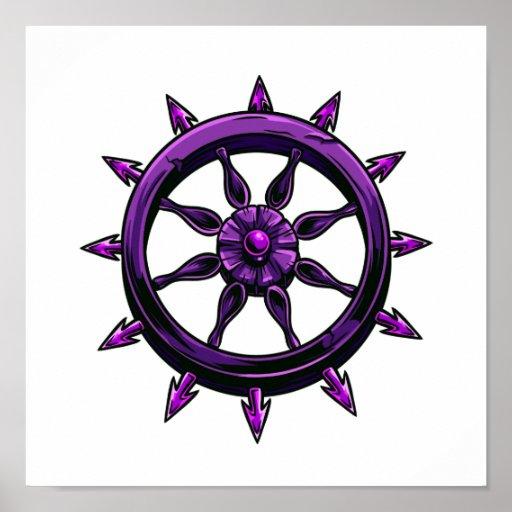 gráfico redondo purple.png de la rueda de las nave poster