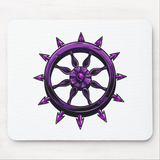 gráfico redondo purple.png de la rueda de las nave tapete de ratones