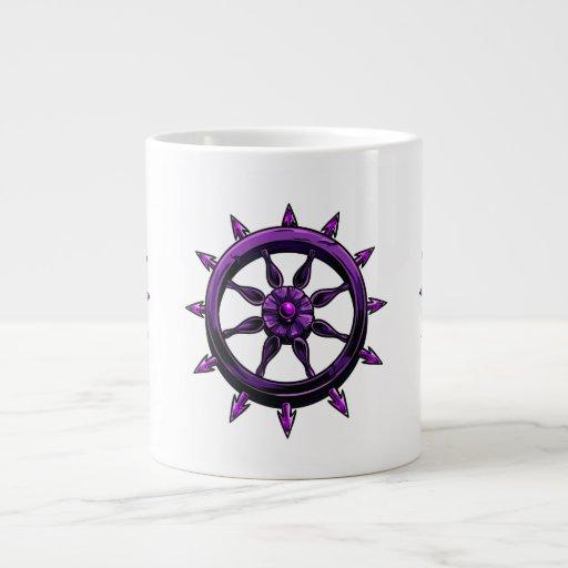 gráfico redondo purple.png de la rueda de las nave tazas extra grande
