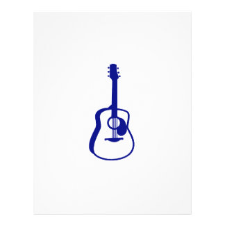 """gráfico resumido blue.png de la guitarra folleto 8.5"""" x 11"""""""
