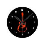 gráfico resumido orange.png de la guitarra reloj de pared