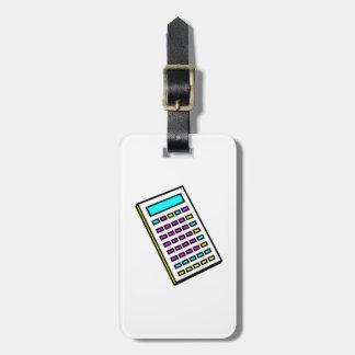 Gráfico retro de la calculadora de CMYK Etiqueta Para Equipaje