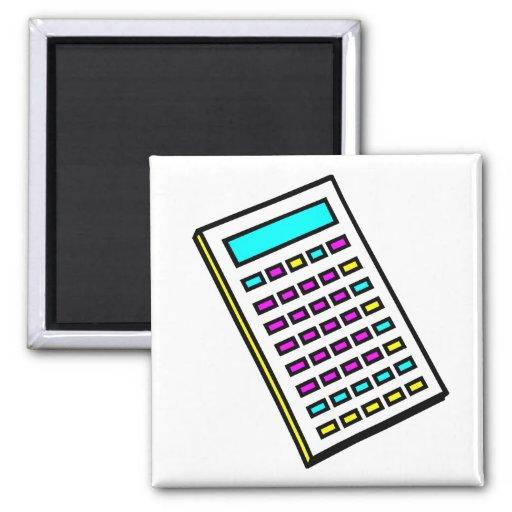 Gráfico retro de la calculadora de CMYK Imán Cuadrado
