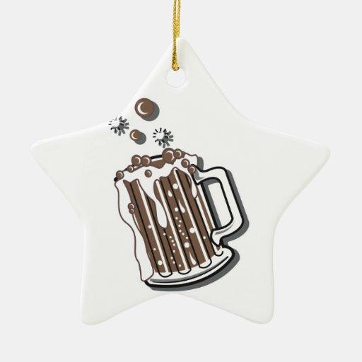 gráfico retro de la cerveza de raíz del estilo adorno de cerámica en forma de estrella