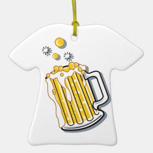 gráfico retro de la cerveza del estilo ornamento para arbol de navidad