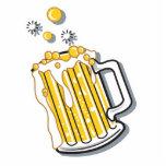 gráfico retro de la cerveza del estilo escultura fotográfica