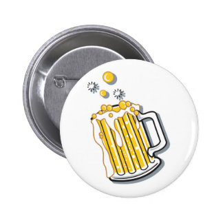 gráfico retro de la cerveza del estilo pin redondo 5 cm