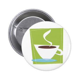 gráfico retro de la taza de 50s Coffe Pins