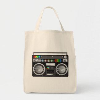 gráfico retro del arenador del ghetto del boombox bolsa tela para la compra