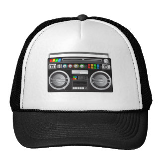 gráfico retro del arenador del ghetto del boombox gorras de camionero