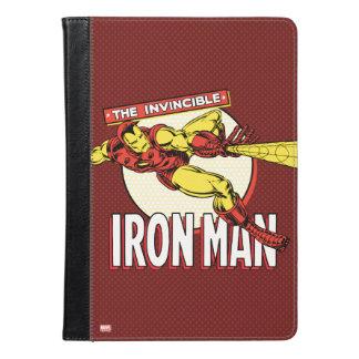 Gráfico retro del carácter del hombre del hierro