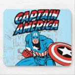 Gráfico retro del precio de capitán América Alfombrilla De Raton