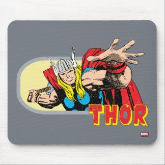 Gráfico retro del Thor Alfombrillas De Ratón