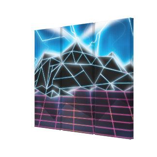 Gráfico retro del videojuego de los años 80 impresiones de lienzo