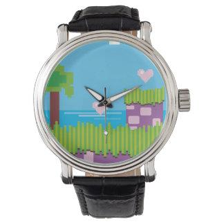 Gráfico retro del videojuego de los años 80 reloj de mano