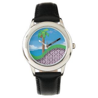 Gráfico retro del videojuego de los años 80 relojes de mano