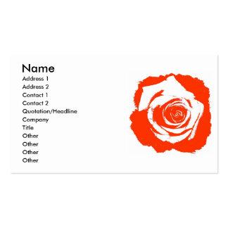 Gráfico rígido de la floración del rosa rojo y bla tarjetas de visita