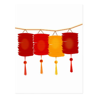 Gráfico rojo chino de la buena suerte del Año Postal