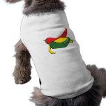 Gráfico rojo de la pimienta de chile del verde ama camisas de mascota