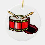 Gráfico rojo del tambor ornamentos de reyes magos