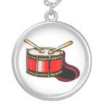 Gráfico rojo del tambor pendiente