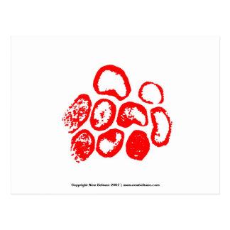 Gráfico rojo del virus tarjetas postales