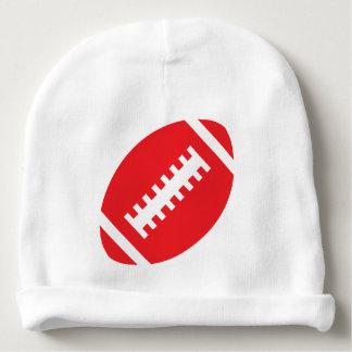 Gráfico rojo deportivo del fútbol del blanco el   gorrito para bebe