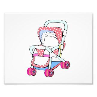 Gráfico rosado de lujo del cochecito de bebé impresión fotográfica