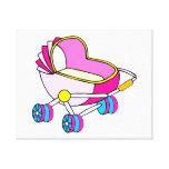 Gráfico rosado del carro de bebé del tema lona envuelta para galerías