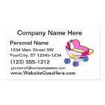 Gráfico rosado del carro de bebé del tema tarjetas de visita