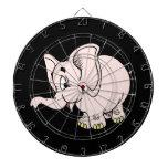 Gráfico rosado del elefante del bebé tabla dardos