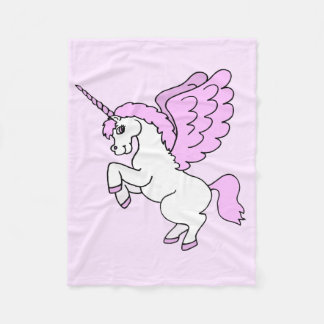 Gráfico rosado y blanco del unicornio manta de forro polar