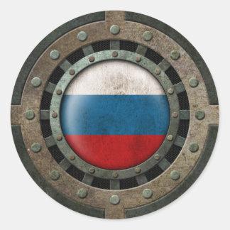Gráfico ruso de acero industrial del disco de la pegatinas redondas