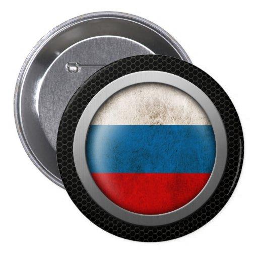 Gráfico ruso del disco de la bandera de la malla d pin