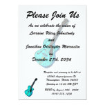 gráfico semi hueco l blue.png de la guitarra invitación 12,7 x 17,8 cm