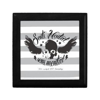 Gráfico sentimental semi mental Art del cráneo Caja De Joyas